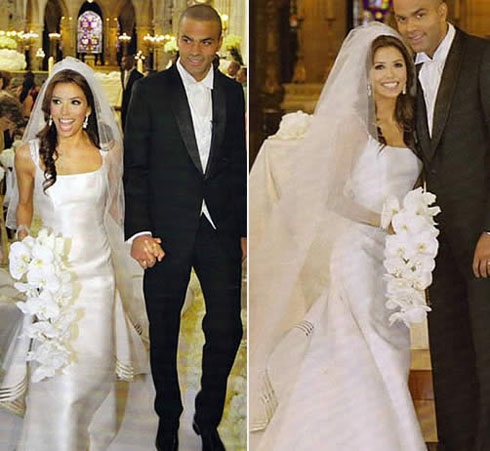 eva longoria wedding dress picture