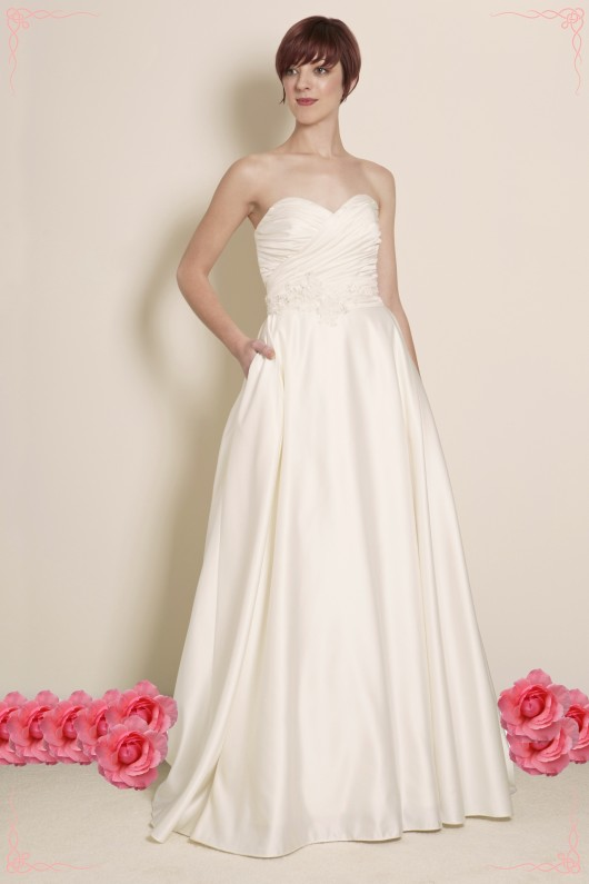 Estilo Moda Bridal Designer Milton Keynes Ball Gown Wedding Dress, Satin Wedding Dress