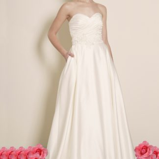 Ariana - Satin A-Line Strapless Wedding Dress