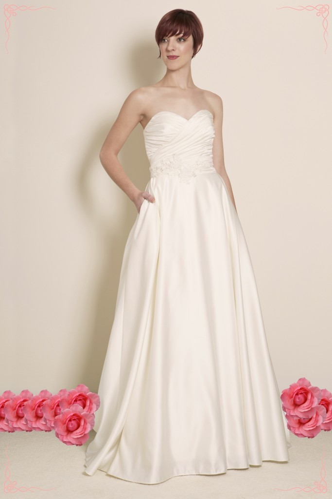 Ariana - Satin A-Line Strapless Wedding Dress
