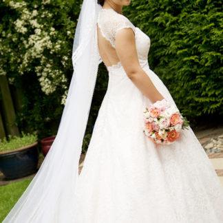 Caroline - Blush Pink Wedding Dress