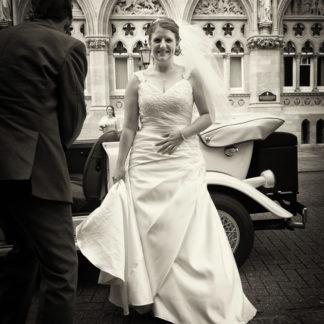 Satin and Lace Off Shoulder Wedding Dress