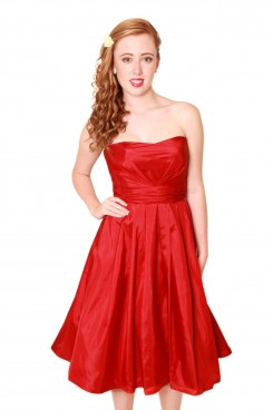 strapless taffeta red short bridesmaid dress milton keynes, Bridesmaid Dresses for different shapes and sizes