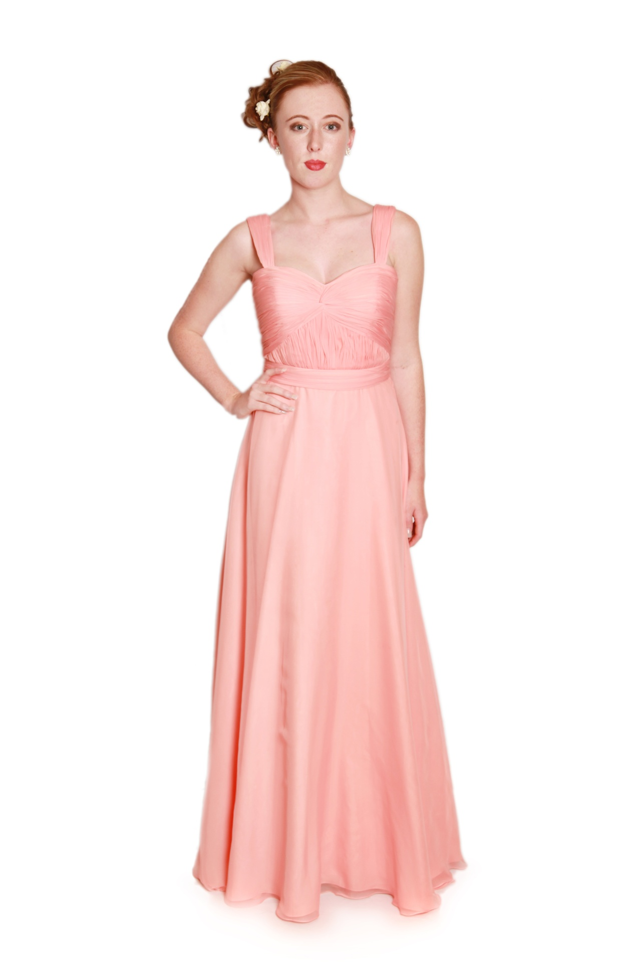 Wedding Dresses For Different Shapes : Dress long chiffon bridesmaids with straps