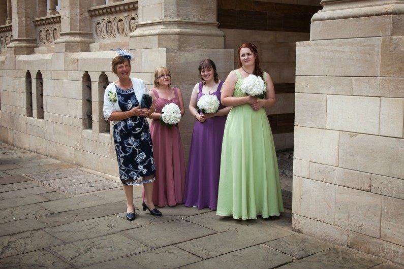 Chiffon Full Length Different Colour Bridesmaids Dresses