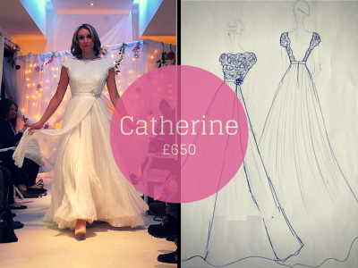 CATHERINE SAVVY CHIC BACKLESS WEDDING DRESSES