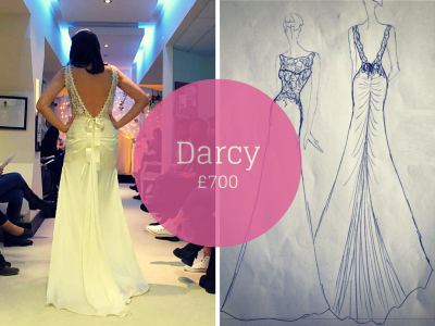 DARCY SAVVY CHIC BACKLESS WEDDING DRESSES