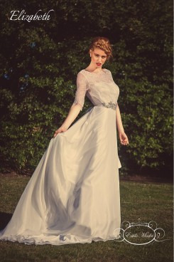 Elizabeth lace wedding dress with sleeves