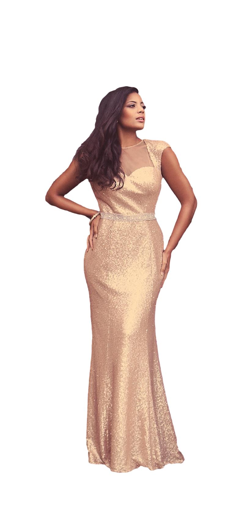 Estilo Moda Bridal Eve Gold Sequin Wedding Dress, Prom Dress, Bridesmaids Dress 2015 Wedding Trends