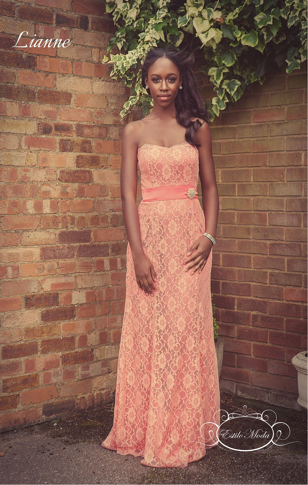 Sweetheart neckline strapless full lace mermaid bridesmaids dress prom dress, Lianne Back, lace bridesmaids dress, lace prom dress, mermaid prom dress, straight prom dress, sheath prom dress, lace bridesmaids dresses milton keynes. long lace mermaid bridesmaid dress