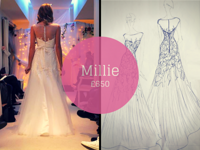 MILLIE SAVVY CHIC BACKLESS WEDDING DRESSES