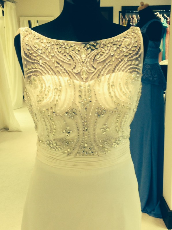 Beaded Backless Wedding Dress