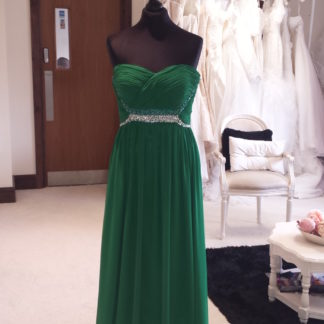 Beading Evening Dress Boutique in Milton Keynes Green Long Chiffon Prom Dress, Green Bridesmaids Dress, Strapless chiffon bridesmaids dresses