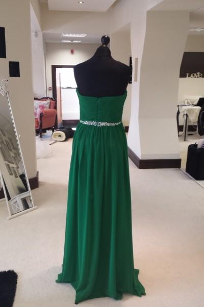 Beading Evening Dress Boutique in Milton Keynes Green Long Chiffon Prom Dress, Green Bridesmaids Dress, Strapless chiffon bridesmaids dresses