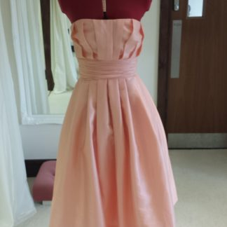 Dusky Pink Bridesmaid Dress, Peach Prom Dress, 2015 Prom Dress