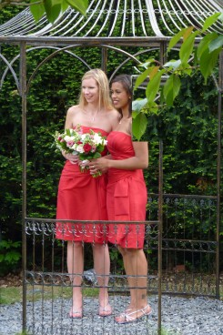 Short Red Bridesmaids Dresses