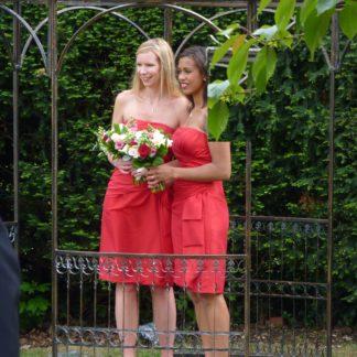 Short Red Bridesmaids Dresses