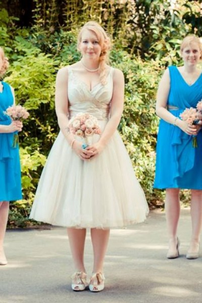 Stunning Blue Chiffon Bridesmaids Dresses, Bridal Shop in Milton Keynes, Affordable bridesmaids dresses UK