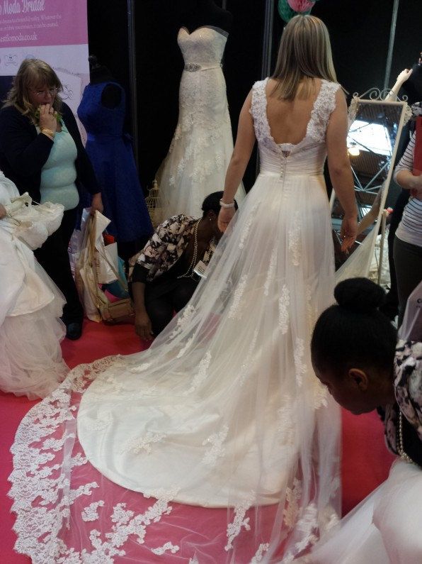 Estilo Moda Bridal at The National Wedding Show Birmingham NEC. Wedding Dresses and Bridedmaids Dresses Milton Keynes