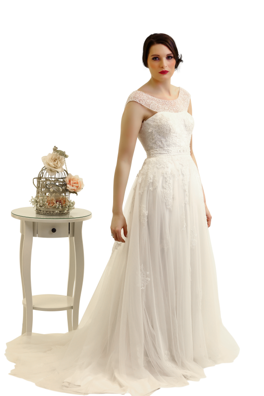 Beatrice lace fit and flare wedding dress - the perfect wedding dress