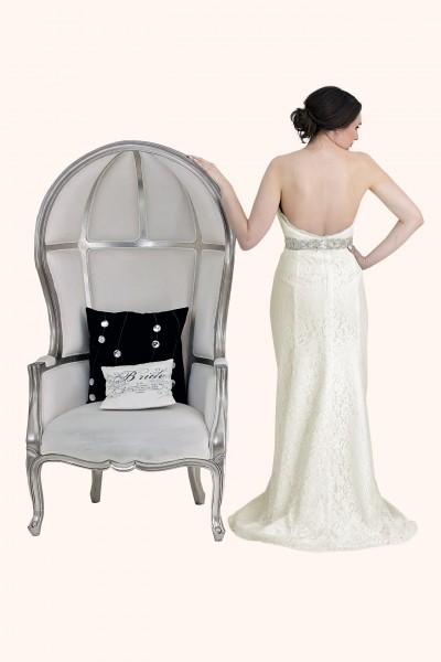 Milton Keynes Estilo Moda Bridal - Bespoke Wedding Dress Designer - Georgina Lace Sweetheart Neckline Strapless Mermaid Wedding Dress Back