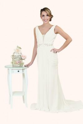 Wedding Dress Sample Sale Milton Keynes Estilo Moda Bridal - Bespoke Wedding Dress Designer - Pippa V Neckline, Deep V Open Sheath Skirt Gathered Wedding Dress
