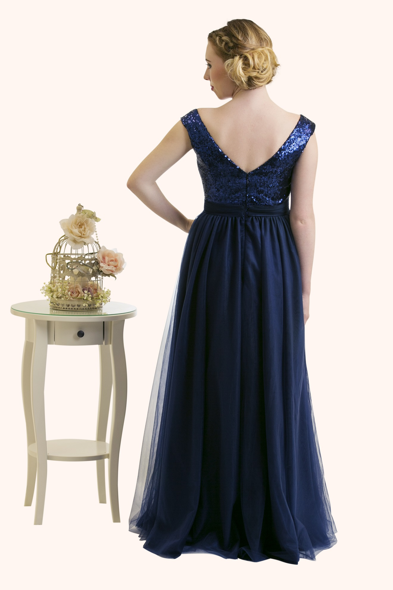 Estilo Moda Milton Keynes Estilo Moda Milton Keynes Faye ball gown sequin and tulle prom dress. navy blue evening dress, blue sequin bridesmaid dress