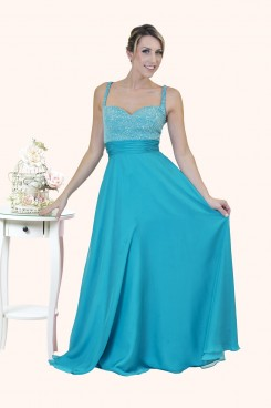 Grace Beaded Bodice A-Line Straps prom dress