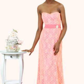 Lianne Strapless Full Lace Mermaid Prom Dress - Estilo Moda Bridal Prom Dresses Milton Keynes. long lace mermaid bridesmaid dress