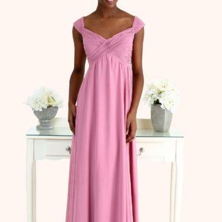 Estilo Moda Bridesmaid Dresses Milton Keynes Sophia Ruched Chiffon Cross Over Bodice Long Length Straps Empire Waist Pregnant Maternity Bridesmaid Dress