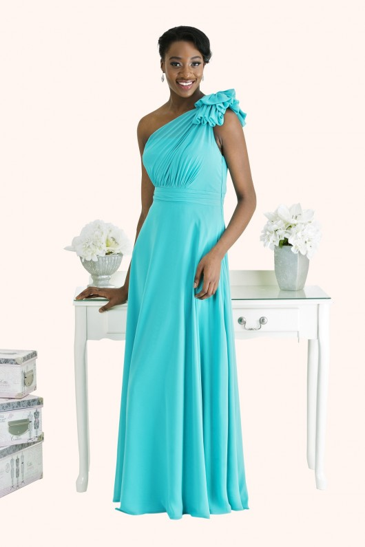 Estilo Moda Bridesmaid Dresses Milton Keynes One Shoulder Chiffon Bridesmaid Dress