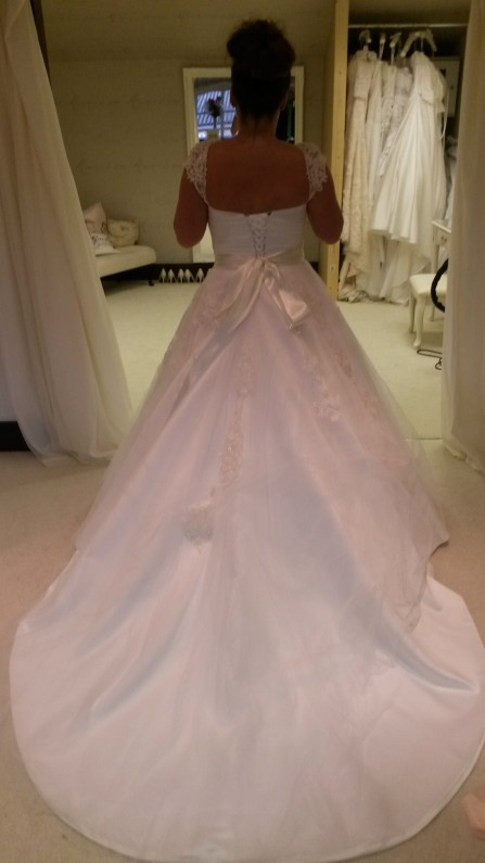 lace and tulle ball gown wedding dress