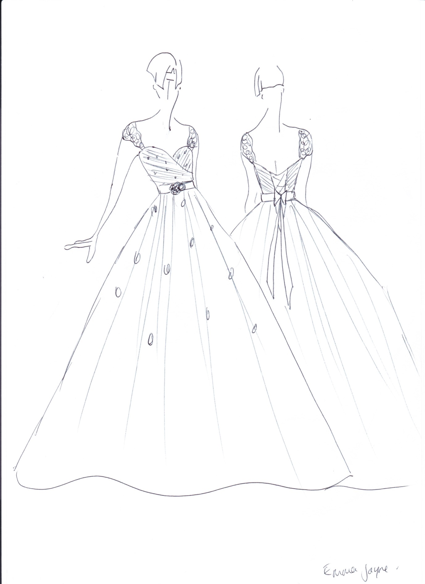 how to draw a ball gown wedding dress | ivo hoogveld