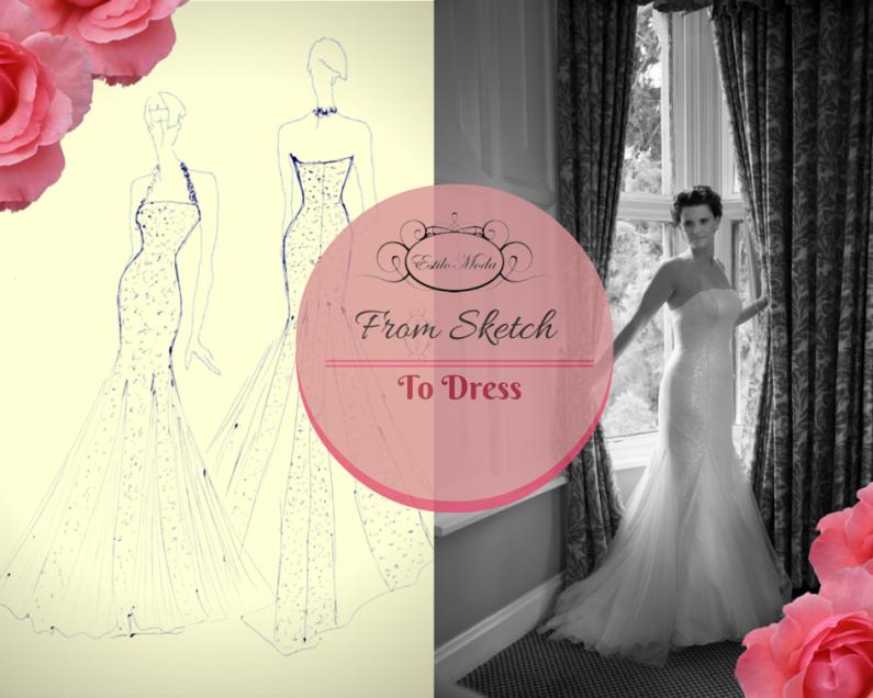 Ivory Sequin Wedding Dress