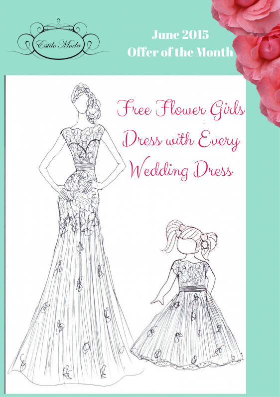 Free Flower Girls Dress with Every Wedding Dress