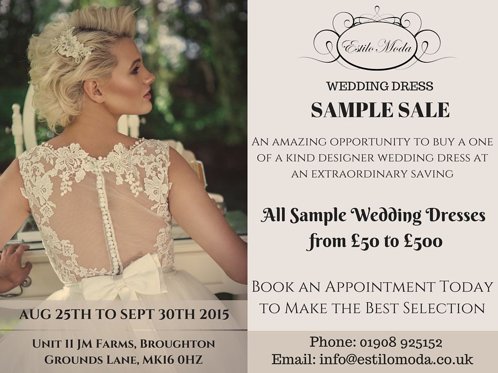 Wedding Dress Sample Sale, Estilo Moda Bridal Milton Keynes