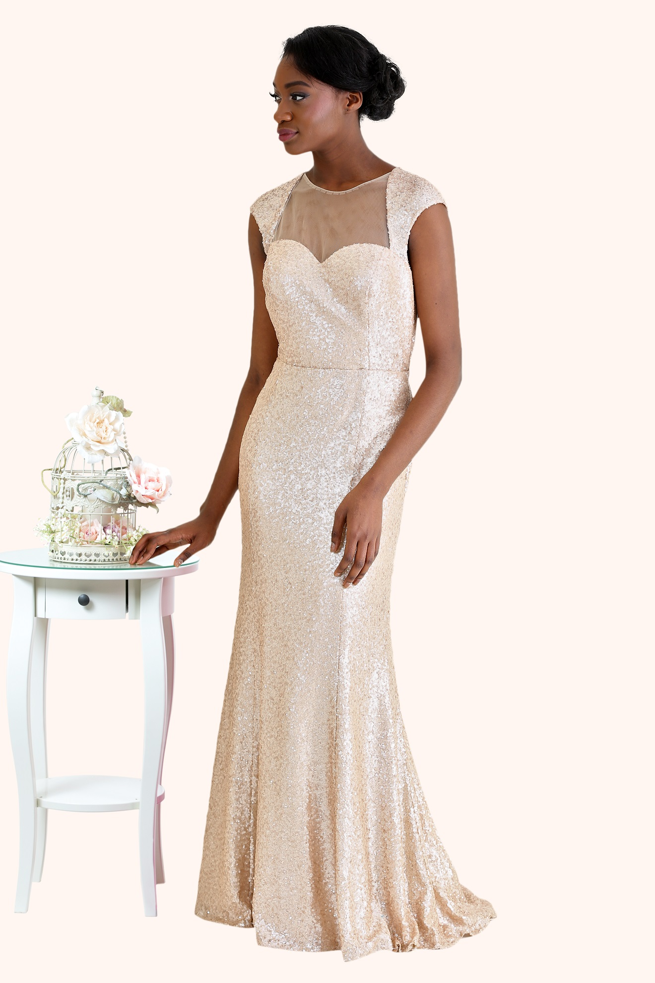 Eve - Gold Sequin Evening Gown