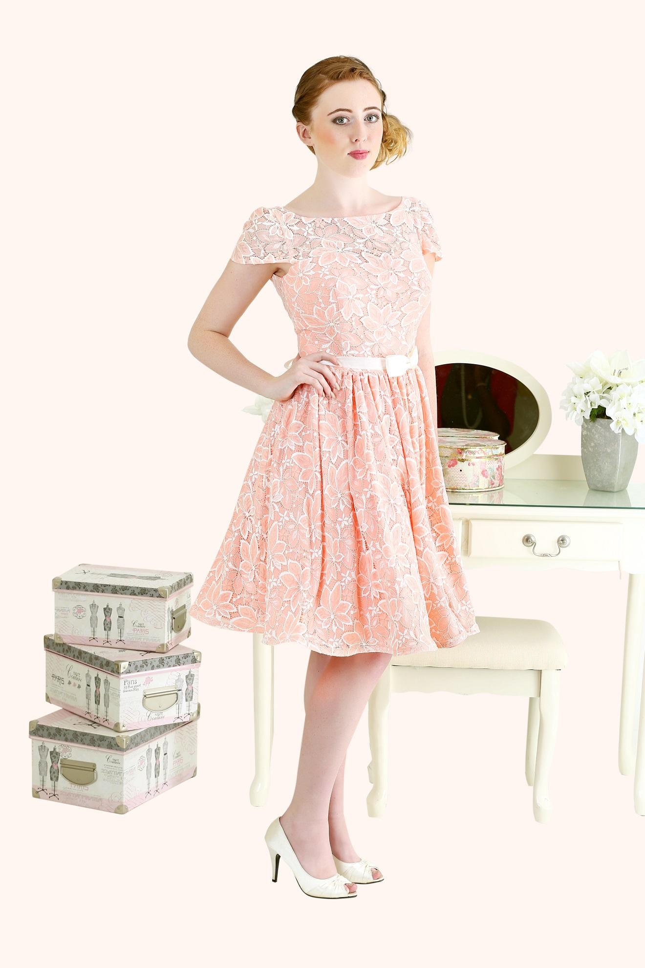 Jennifer - 50s Style Lace Bridesmaid Dress