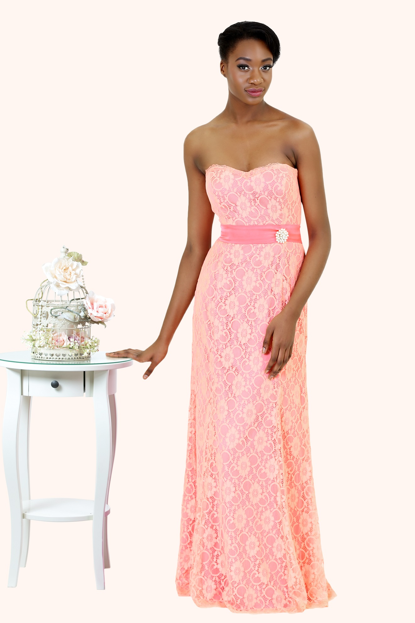 Lianne - Long Lace Mermaid Bridesmaid Dress