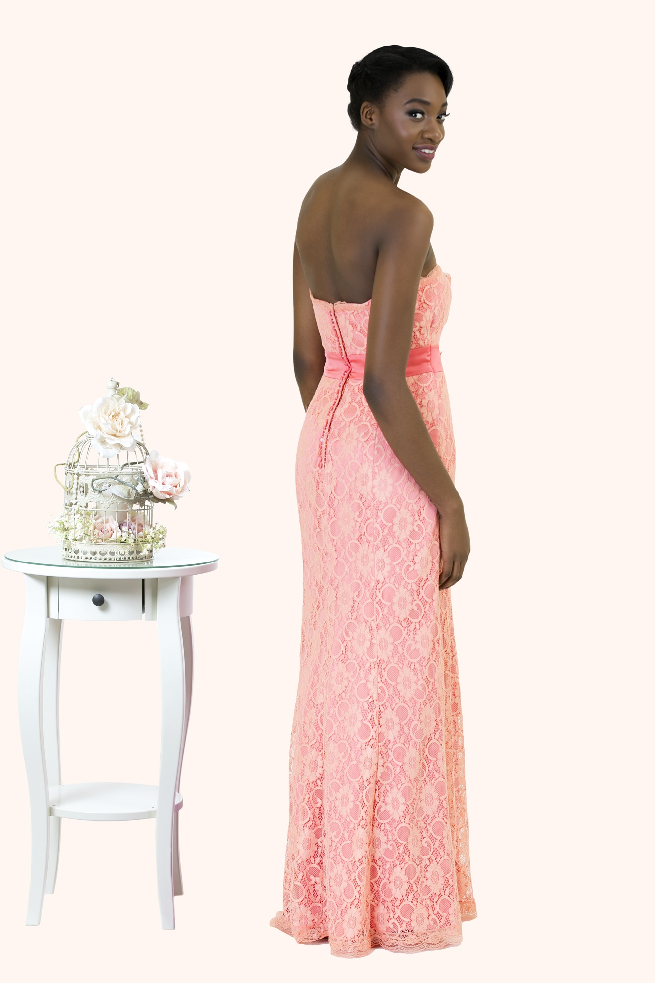 Lianne long lace mermaid bridesmaid dress lianne strapless full lace mermaid prom dress back view estilo moda bridal prom dresses milton ombrellifo Images